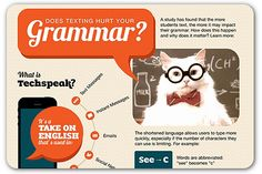 Great infographic about texting and grammar.
