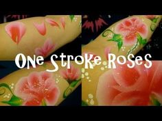 ▶ One stroke roses face painting tutorial. - YouTube
