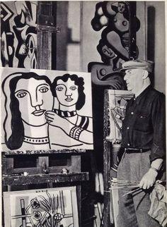 Fernand Leger in his studio Famous Artists, Great Artists, Artist Art, Artist At Work, Gif Sur Yvette, Maurice Utrillo, Pop Art, Painters Studio, Art Brut