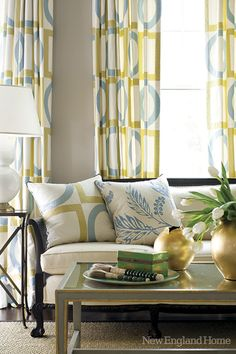 Turquoise and Yellow - Can anyone help me find a fabric similar to this curtain in Manila?