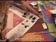 Applique one fabric to another using needle turn applique. This blind stitch, along with silk thread, makes the stitches nearly invisible. Watch how close to...