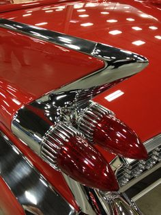 Red #Cadillac cool tail lights. What year? #coolcars QuirkyRides.com