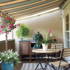Creative Ideas for Outdoor Fabric: Shady Terrace