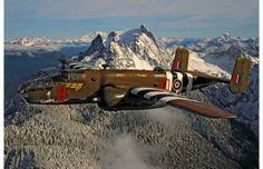 "World War II/ B-25 Mitchell bomber, nicknamed ""Grumpy,"" in flight"
