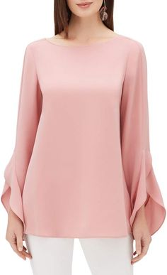online shopping for Lafayette 148 New York Emory Finesse Crepe Blouse from top store. See new offer for Lafayette 148 New York Emory Finesse Crepe Blouse Blouse Styles, Blouse Designs, Sleeves Designs For Dresses, Stylish Blouse Design, Stylish Tops, Crepe Fabric, Mode Hijab, Chic Outfits, Blouses For Women