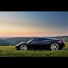 Taking a stroll in the country with a Ferrari