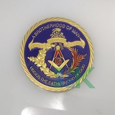 Masonic Freemasonry coins,2015 Newest Replica coins, Free shipping 5 pcs/lot ,40*3mm Iron with gold plated coin
