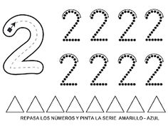 RECURSOS EDUCACIÓN INFANTIL: NÚMERO 2 Numbers Preschool, Preschool Math, Math Activities, 3 Year Olds, Finger Plays, Math Worksheets, Arts And Crafts, Calligraphy, Barn