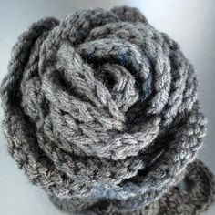 ON SALE Grey Scallop Crochet Scarf by PurpleKissCompany on Etsy, $14.99