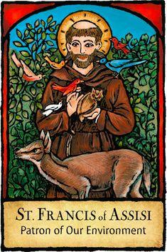 Francis of Assisi - Patron Saints – The Kaleidoscope Designs Catholic Kids, Catholic School, Catholic Saints, Patron Saints, Roman Catholic, Catholic Prayers, Feast Of St Francis, Francis Of Assisi, Saint Francis