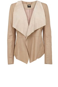 Waterfall jacket suede and leather -oasis