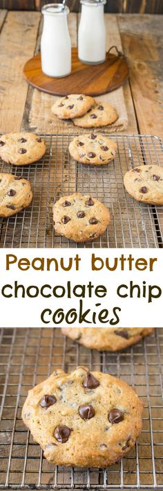 Peanut butter chocolate chip cookies. There's no better sweet treat than a warm…