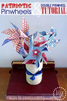 The Scrap Shoppe: Patriotic Pinwheels {& Double Pinwheel Tutorial}