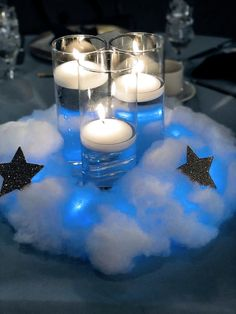 Twinkle twinkle little star centerpieces jaxandsagedesigns candle babyshower can. Star Baby Showers, Boy Baby Shower Themes, Baby Shower Fun, Shower Party, Baby Boy Shower, Cloud Baby Shower Theme, Unique Baby Shower, Baby Shower Balloons, Star Centerpieces