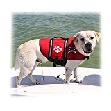 Paws Aboard Red Neoprene Life Jacket Dog or Cat Life Preserver (Large 50-90 Lbs)
