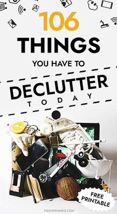 I guarantee everyone has at least 100 items in their home that they can get rid of and never think twice about ever again. Check this list of 106 items to declutter from your home over the course of one month. Free printable included if you want it! Tan Dining Rooms, Living Room, Boho Chic Bedroom, Bedroom Decor, Painting Ikea Furniture, Diy Bed Frame, Bed Frames, Scandinavian Christmas, Christmas Diy
