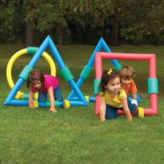 Foam Geometric Shapes for Kids Obstacle Course