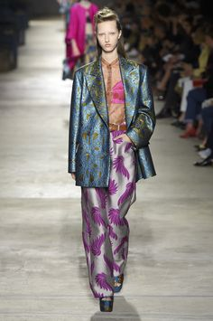 wgsn:  A clash of colour and parade of prints at@DriesVanNoten#SS16 #PFW