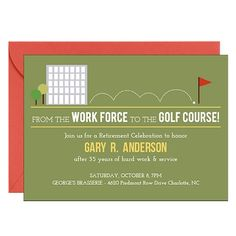 Golf Course Retirement Party Invitation | Paper Source