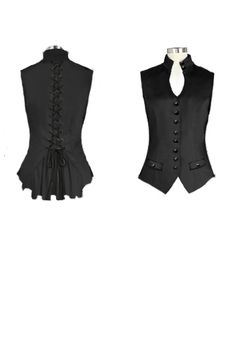 Victorian Corset Back Vest Brand ChicStar, desing  by Amber Middaugh
