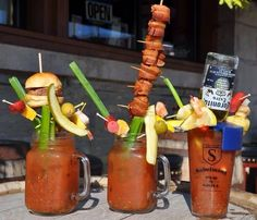 Blood Marys, by nature, tend to invite grand gestures in the garnish department. | A Bar In Milwaukee Is Serving A Bloody Mary With An Entire Fried Chicken In It