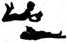 Vector Siluetas De Los Niños Sobre Un Fondo Blanco. Ilustraciones Vectoriales, Clip Art Vectorizado Libre De Derechos. Pic 28602060.