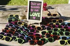 """""""Blinded by Love"""" Sunglasses Favor"""
