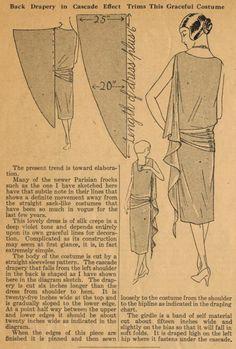 back cascade dress