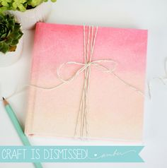 How to Create an ombre Hard Journal Cover with gelatos - by Amber at Damask Love