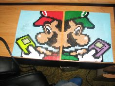 Mario and Luigi perler beads by ndbigdi on deviantART