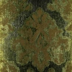 This medium-weight modern damask boasts a unique crackled pattern and an ombre effect throughout.  There is just bit of sheen and a stiffer texture on the background, while the pattern is butter-soft.  The color grades from moss to hunter green with a bit of brown on the pattern.  This fabric is best suited for drapery or light upholstery projects.