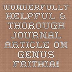 Wonderfully helpful & thorough journal article on genus Frithia!!!