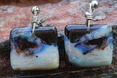 Hand Made Genuine Australian Opal Jewellery. Boho Jewelry, Jewelry Design, Jewellery, Australian Opal Jewelry, Free Shapes, Opal Earrings, Bouldering, Dog Tag Necklace, Boho Fashion