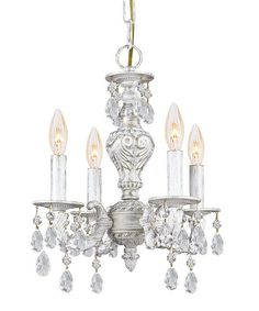 Loving this Antique White Clear Crystal Majestic Chandelier on #zulily! #zulilyfinds
