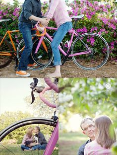 Bicycle engagement session. Aharon Hill Photography.