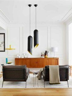 pendelleuchten wohnzimmerlampe lampenschirm schwarz holz kommode