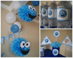 Reminds me of Z's 1st bday party when I did everything cookie monster