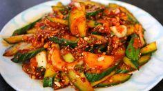 Spicy Korean cucumber salad (oimuchim: 오이무침)