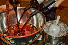 We make our Sangria from the wine prodused in Russia, add fruits and berries...