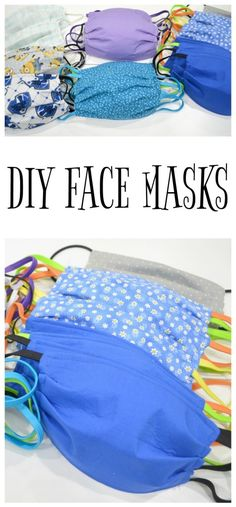 These DIY Face Masks are simple to create and can make a big difference for health care workers or even just your family and friends. masks diy sewing with hair ties Face Masks For Kids, Easy Face Masks, Diy Face Mask, Sewing Elastic, Diy Craft Projects, Sewing Projects, Sewing Ideas, Sewing Hacks, Craft Ideas