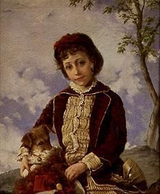 Francisco Oller y Cestero - Portrait of a distinguished girl from Puerto Rico.