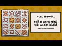 There are many ways to do quilt-as-you-go or QAYG. I use this technique to quilt each block individually and then attach them using sashing. This technique uses exclusively machine sewing. How to Q…