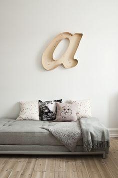 Крупные буквы в интерьере. 38 Идей #буквы