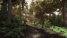 UDK natural environment, showing that UDK could be used for game proposal.