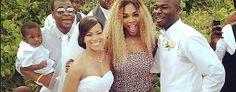 Tennis star Serena Williams crashes wedding in leopard swimsuit (Instagram)