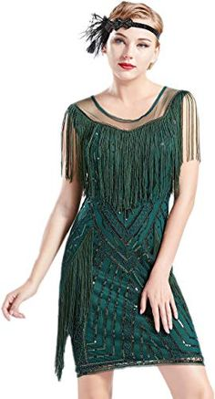 online shopping for BABEYOND Gatsby Dress Long Fringe Flapper Dress Roaring Sequins Beaded Dress Vintage Art Deco Dress from top store. See new offer for BABEYOND Gatsby Dress Long Fringe Flapper Dress Roaring Sequins Beaded Dress Vintage Art Deco Dress Roaring 20s Fashion, Roaring 20s Dresses, Great Gatsby Fashion, Moda Vintage, Vintage Art, Unique Vintage, Fringe Flapper Dress, Flapper Dresses, Flapper Outfit