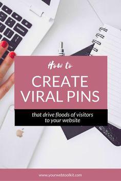 7 Tips For Creating Viral Pins That Bring You Website Traffic Pinterest Board Names, Pinterest For Business, Online Entrepreneur, Blogging For Beginners, Pinterest Marketing, Free, Marketing Strategies, Followers, Technology