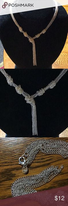 """SILVER TONE. CHAIN LINK TASSEL NECKLACE Marked. See pic 3 EUC 18"""" long Lobster claw closure I love bundles. 25% off 2 items Offers considered on my entire closet! Thank you for looking! Jewelry Necklaces"""