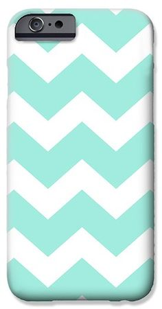 Sea Green Chevron Pattern iPhone 6 Case by Christina Rollo.  Protect your iPhone 6 with an impact-resistant, slim-profile, hard-shell case.  The image is printed directly onto the case and wrapped around the edges for a beautiful presentation.  Simply snap the case onto your iPhone 6 for instant protection and direct access to all of the phones features!