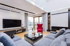 Salon styl Nowoczesny - zdjęcie od 3deko - Salon - Styl Nowoczesny - 3deko Living Room Modern, Living Rooms, House Design, Furniture, Home Decor, English, Projects, Houses, Lounges